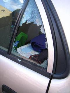 """Smashed rear window"""
