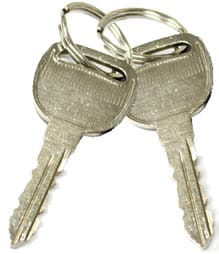 Old metal keys with no Immobiliser chip