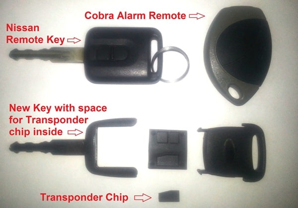 Nissan Transponder Key with Remote