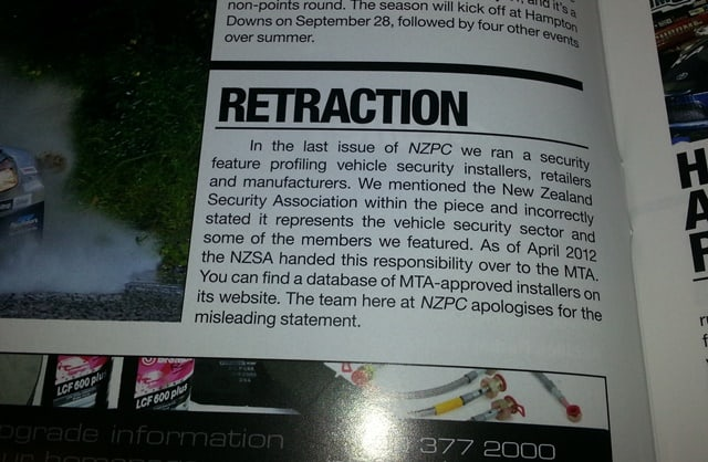 NZ Performance Car Retraction