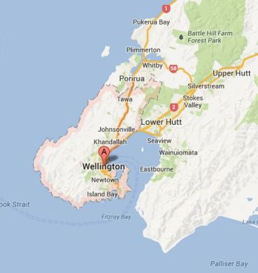 Wellington is in New Zealand