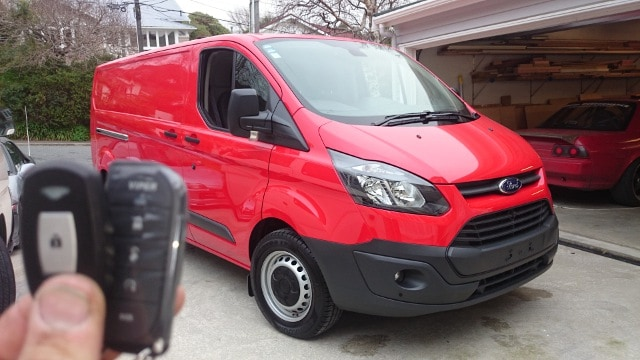 Ford Transit with PKE