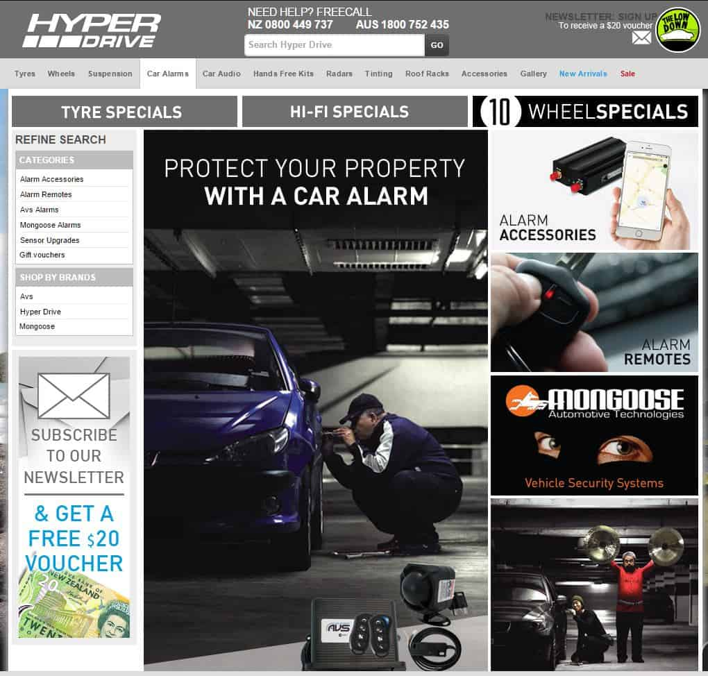 Hyper Drive Alarms