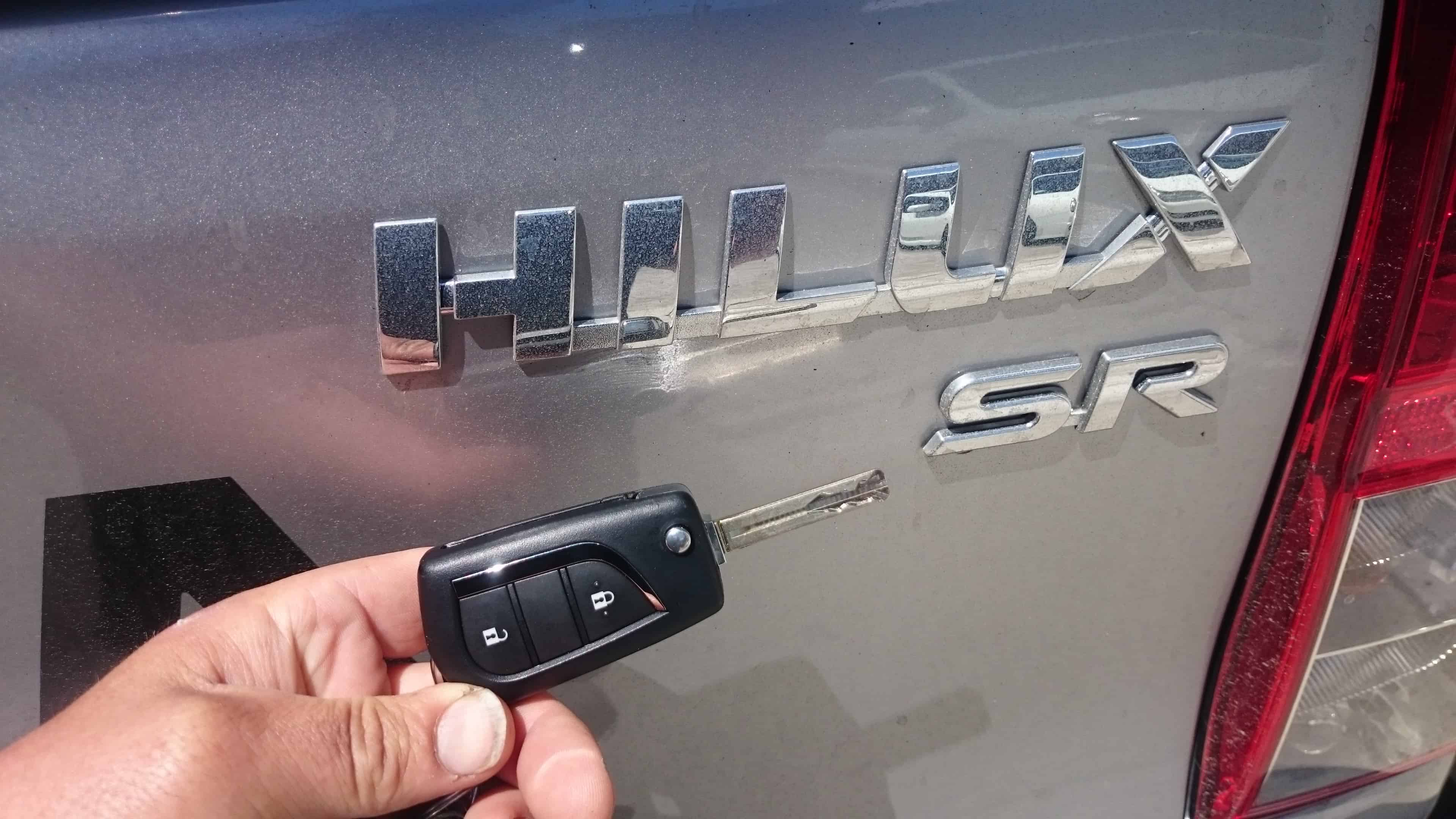 Hilux with flip open remote key