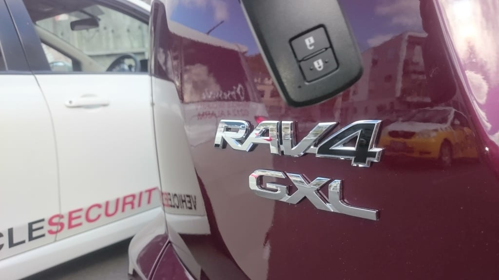 RAV4 GLX and Limited come with proximity smart key