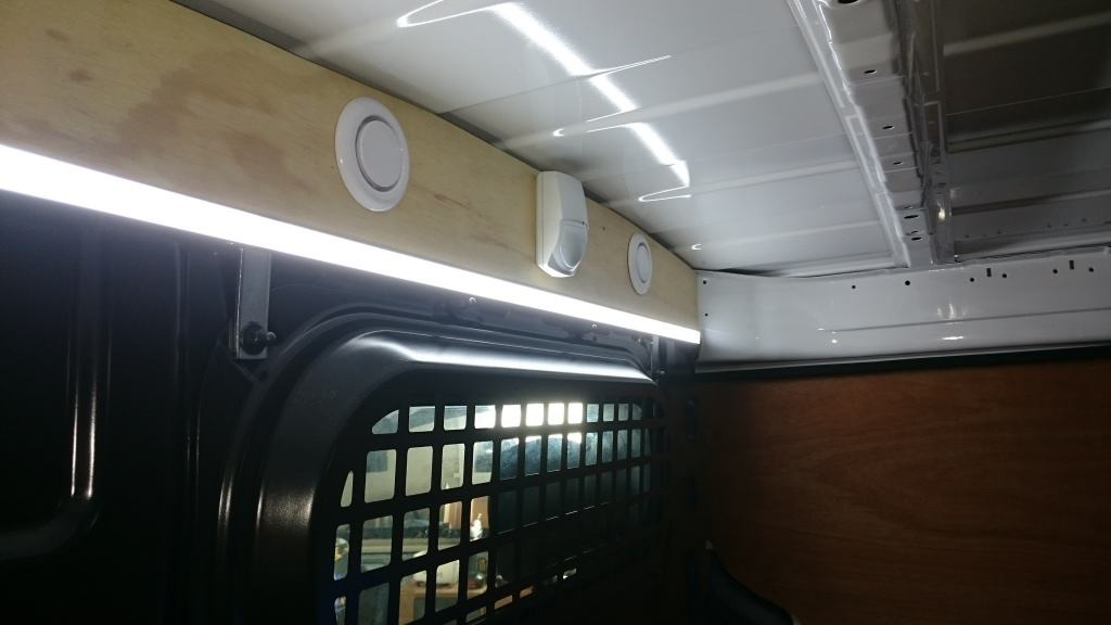 Custom made internal van lighting