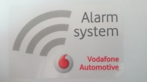 Vodafone automotive alarm system